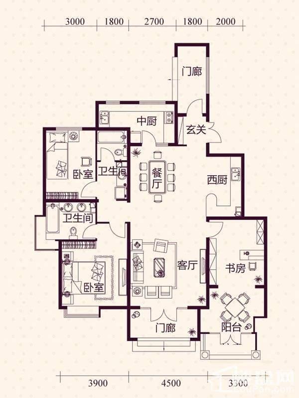 五层洋房A1户型图