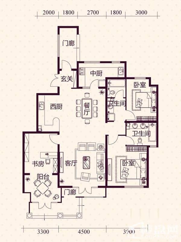 五层洋房A2户型图