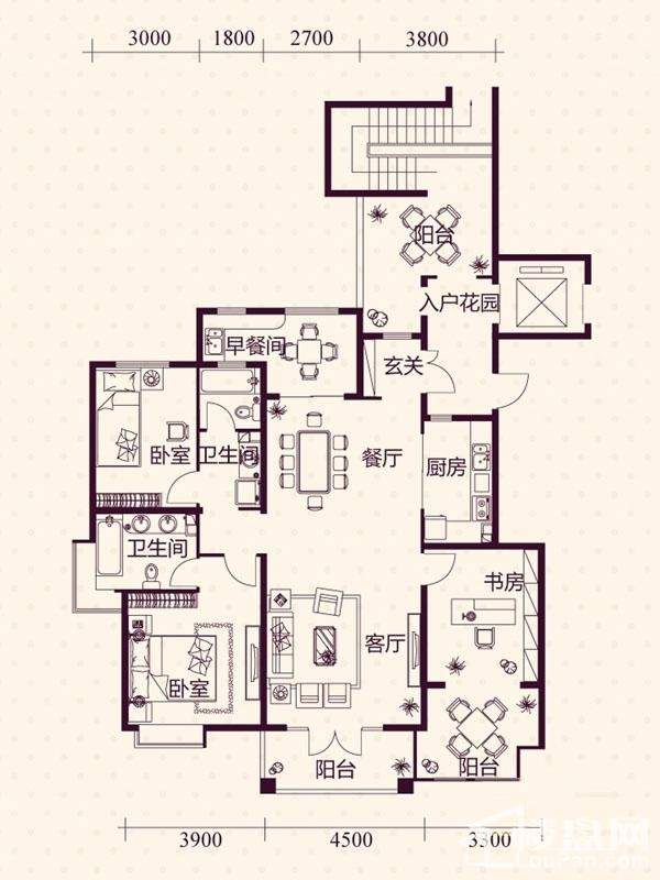 五层洋房A3户型图