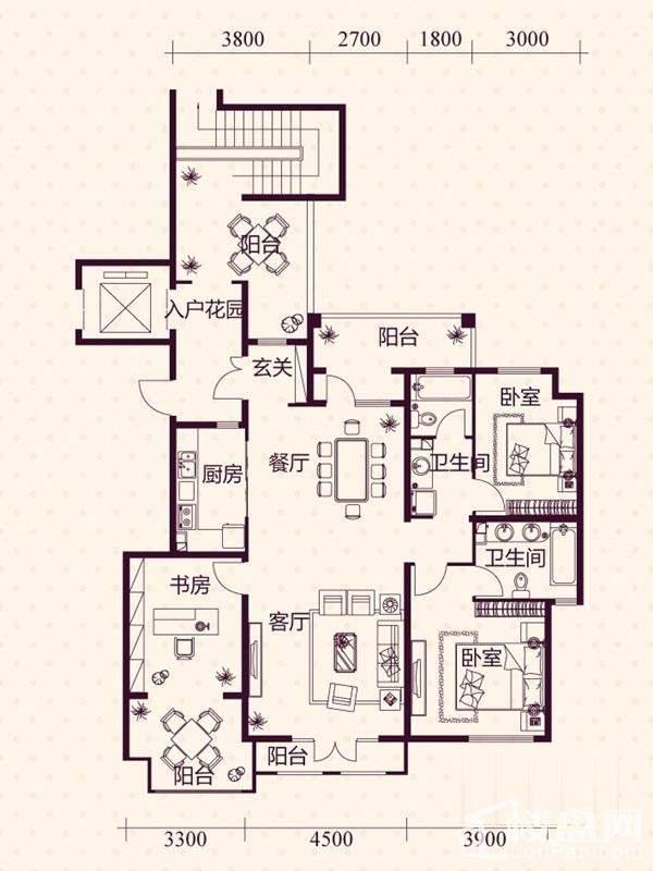 五层洋房A4户型图