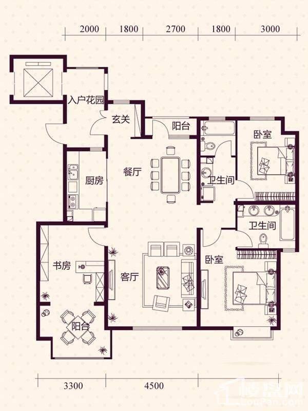 五层洋房A7户型图