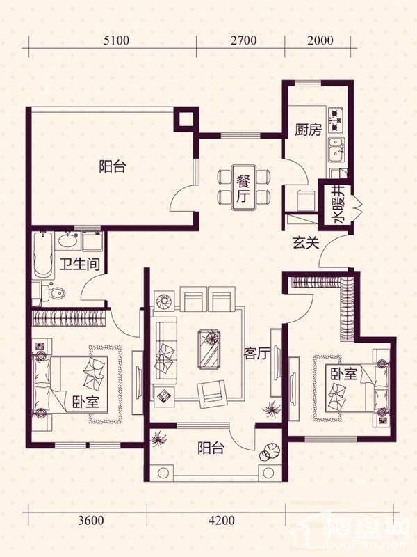 五层洋房B7户型户型图