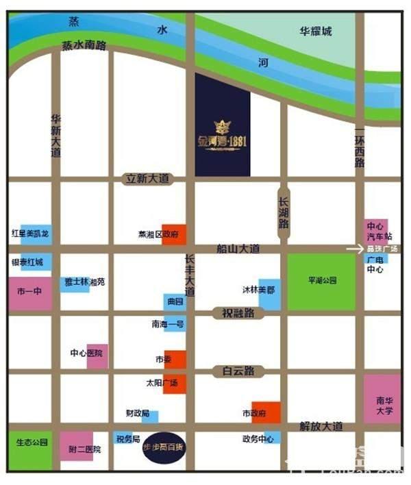 金河湾·1881位置图