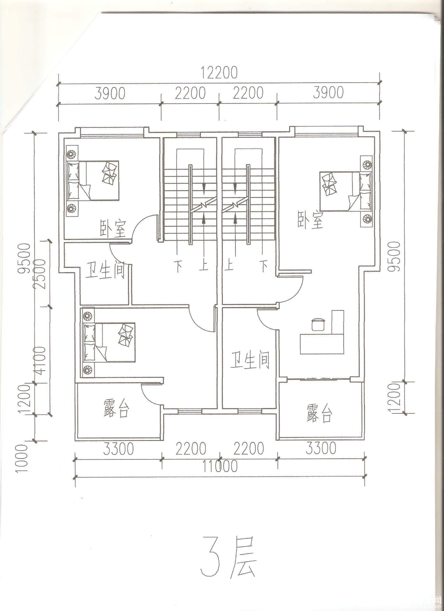 五虎山别墅方案 3层