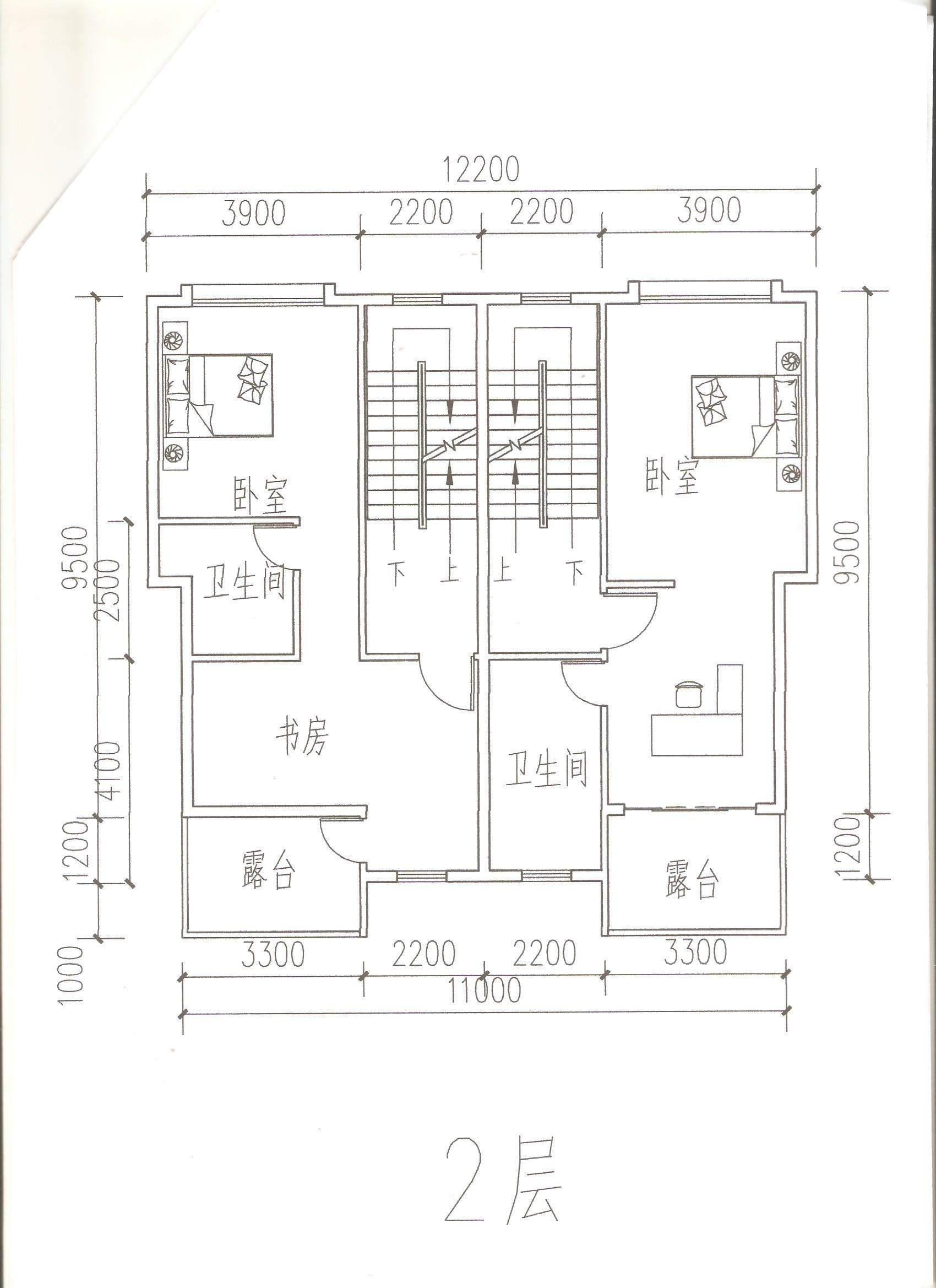 五虎山别墅方案 2层