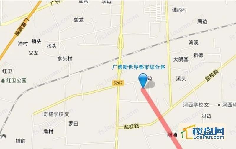 广佛新世界都市综合体 位置图