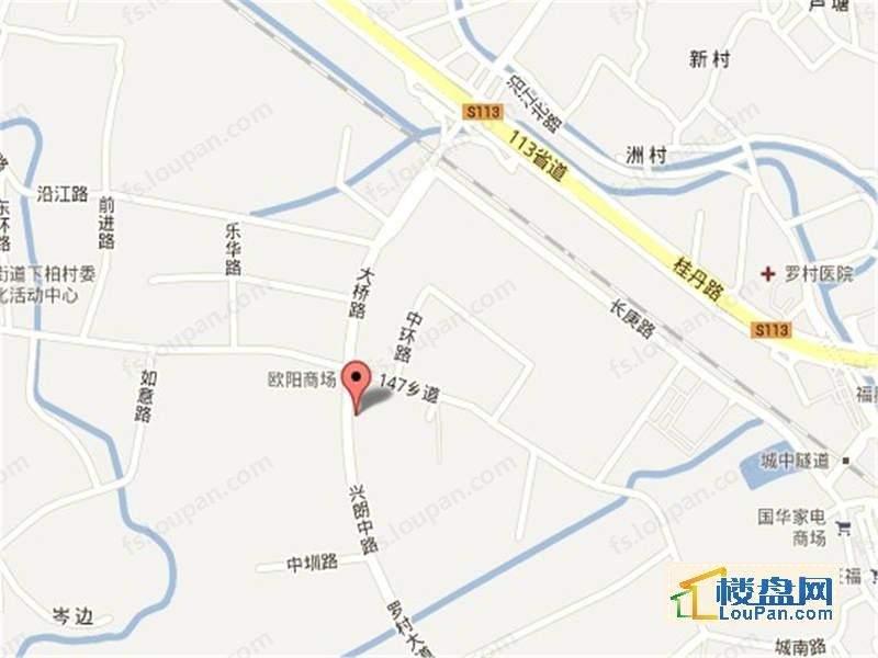 尚观嘉园位置图