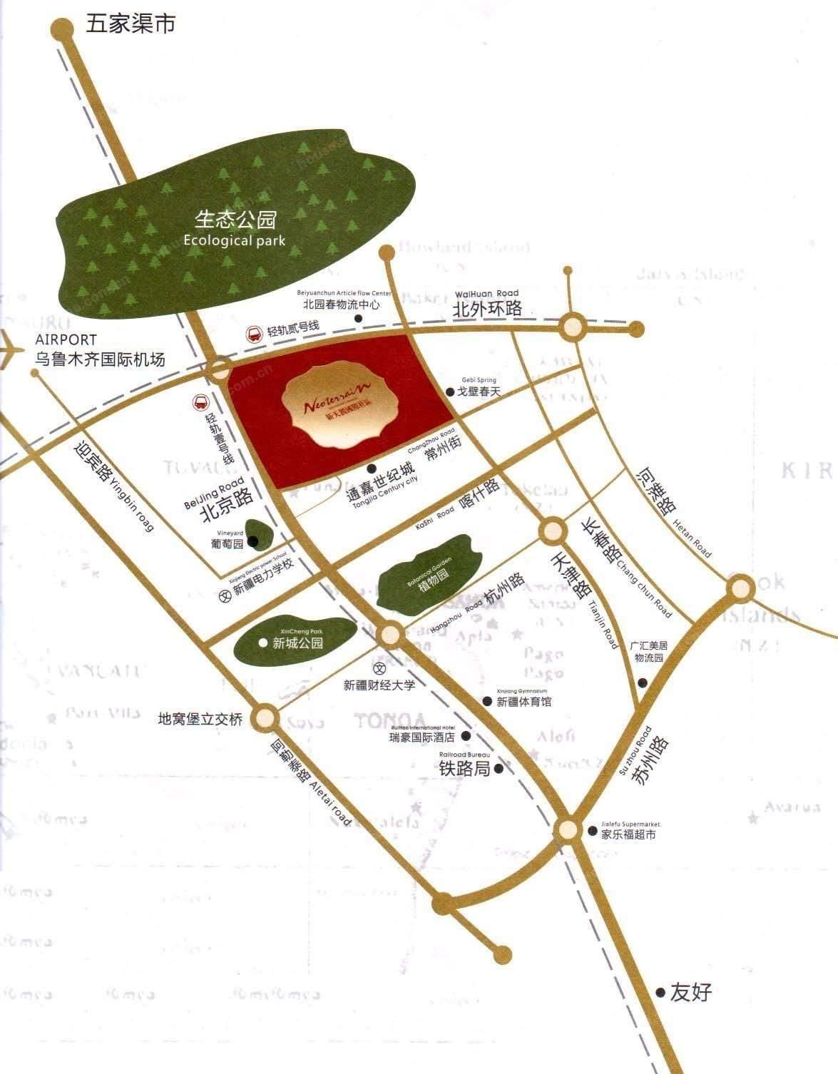 新天润国际社区五期澜岸位置图