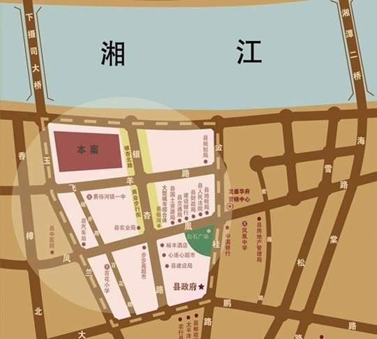龙盛·华府商铺位置图
