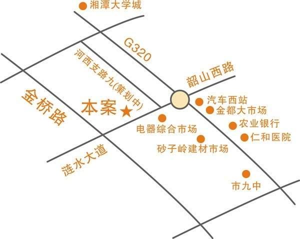 新景•西城上筑位置图