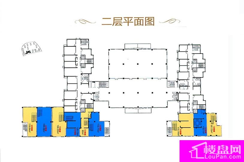 A区16号二层平面图
