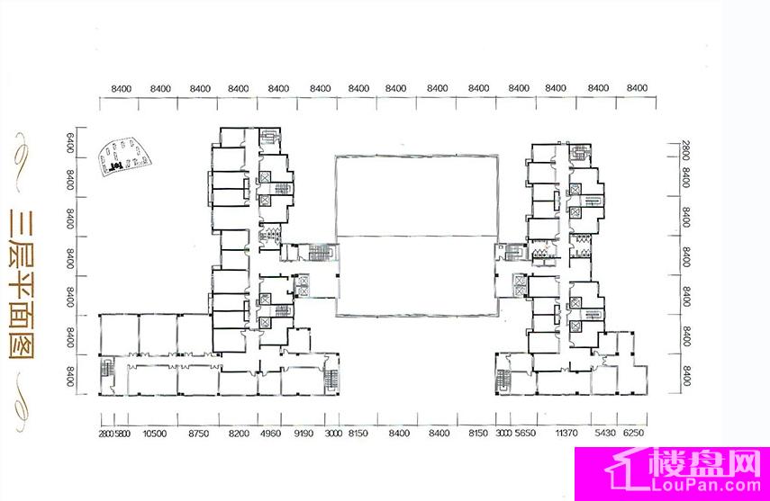 A区16号三层平面图