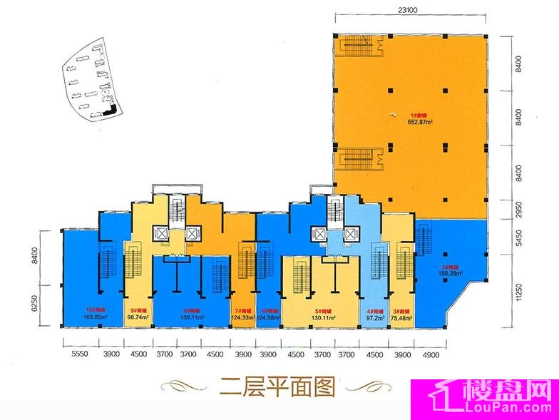 A区17号二层平面图