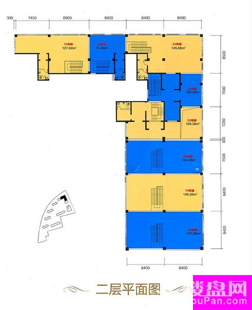 B区11号二层平面图