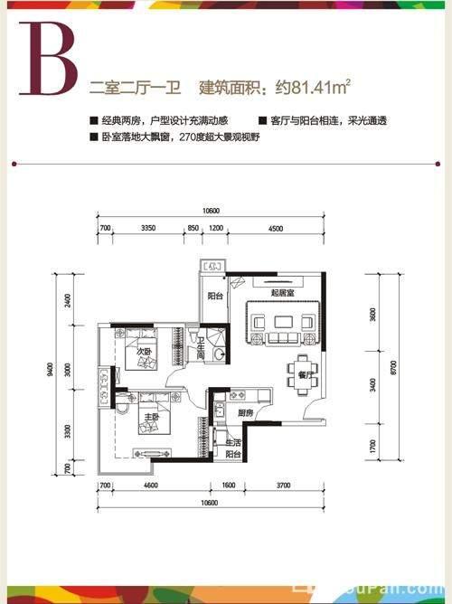 长虹国际城2期B户型