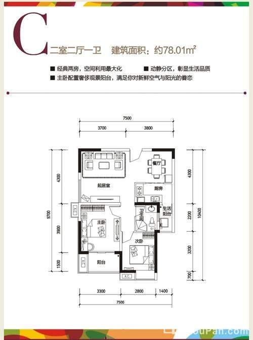 长虹国际城2期C户型