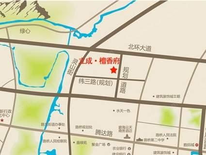 檀香府位置图