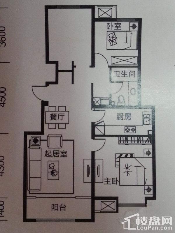 洋房A1户型图