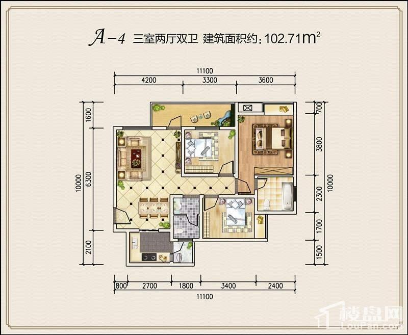 弘桓·时代天街户型图