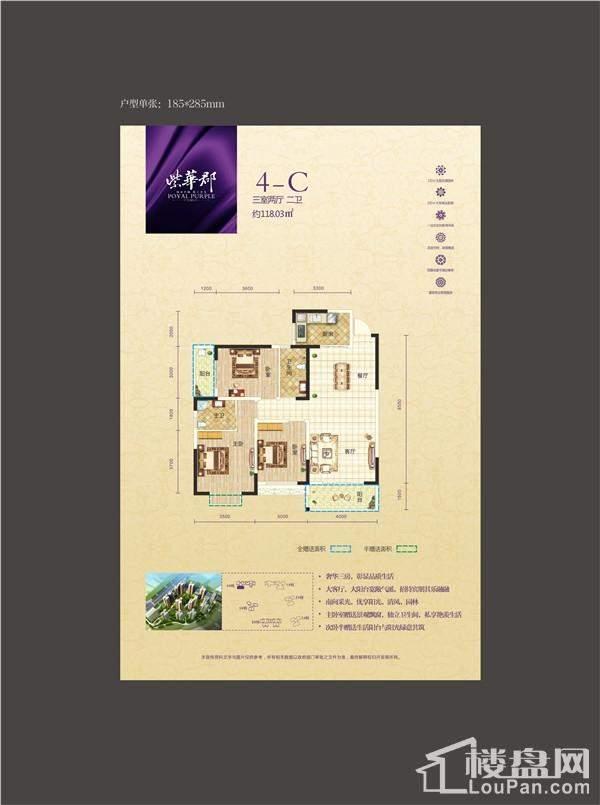 紫华郡户型图4-C