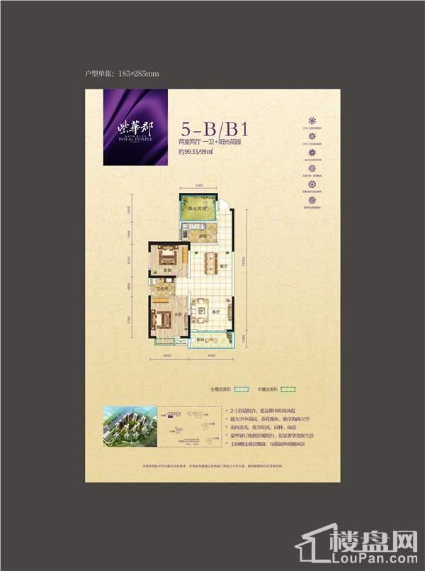 紫华郡户型图5-B/B1
