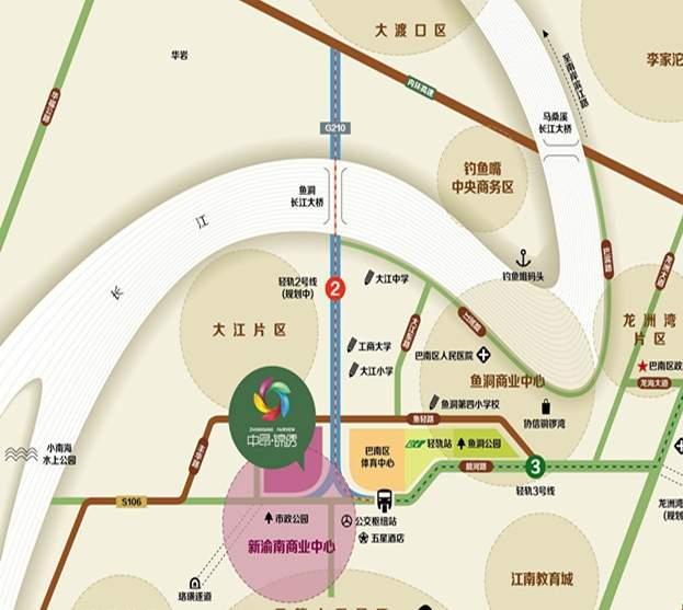 中昂锦绣位置图