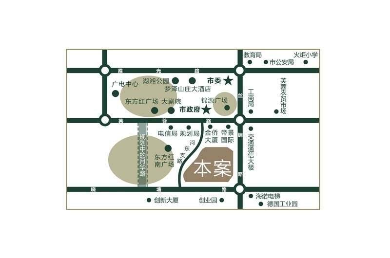 新府华城位置图