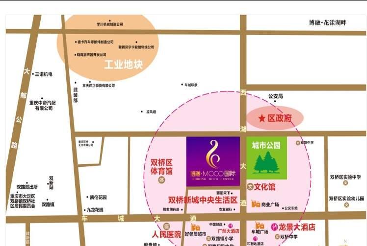 博融MOCO国际位置图