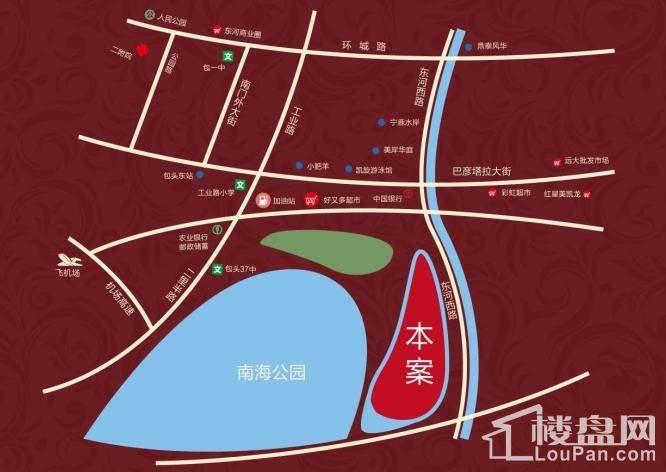 锦绣南海城三期.爱丽舍花园位置图