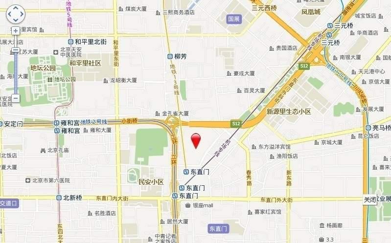 当代北辰COCO MOMA位置图