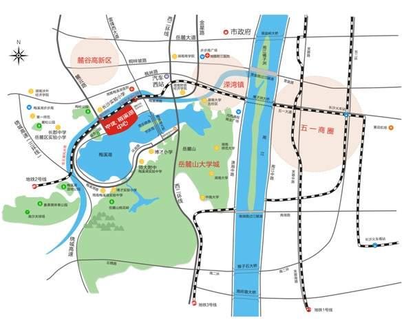 中建梅溪湖中心位置图