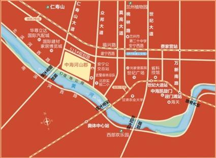 中海河山郡位置图
