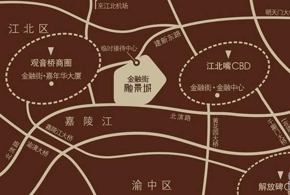 金融街融景城位置图