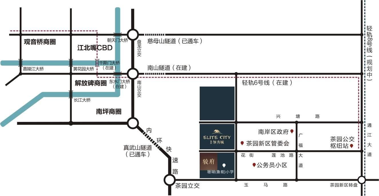 鲁能领秀城位置图