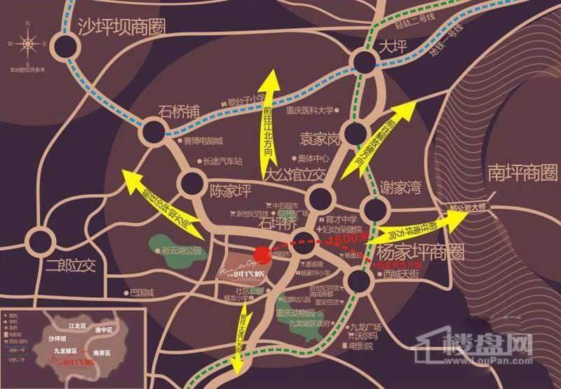 华美时代城 位置图