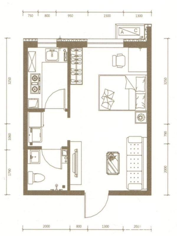 公寓E户型