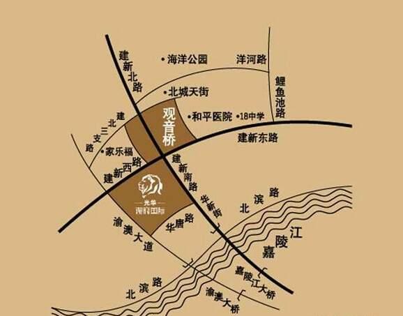 光华观府国际位置图