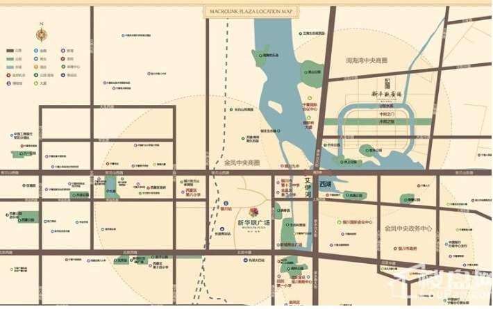 金凤新华联广场位置图