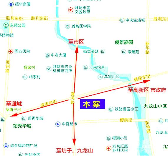 潍大·银泉广场 区位图