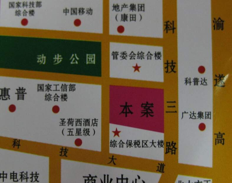 清华SOHO创富中心写字楼位置图