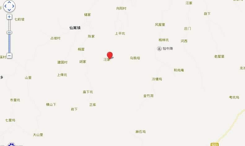 奇峰香山林海位置图
