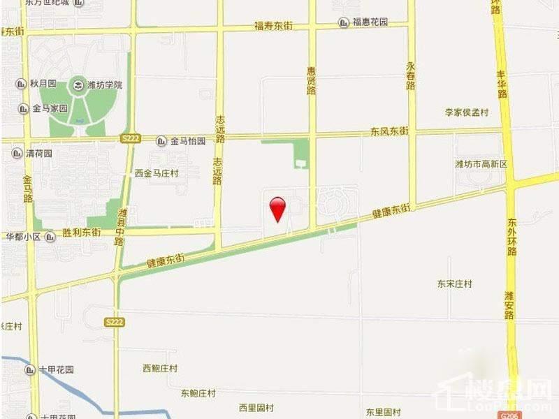 和谐广场区位图