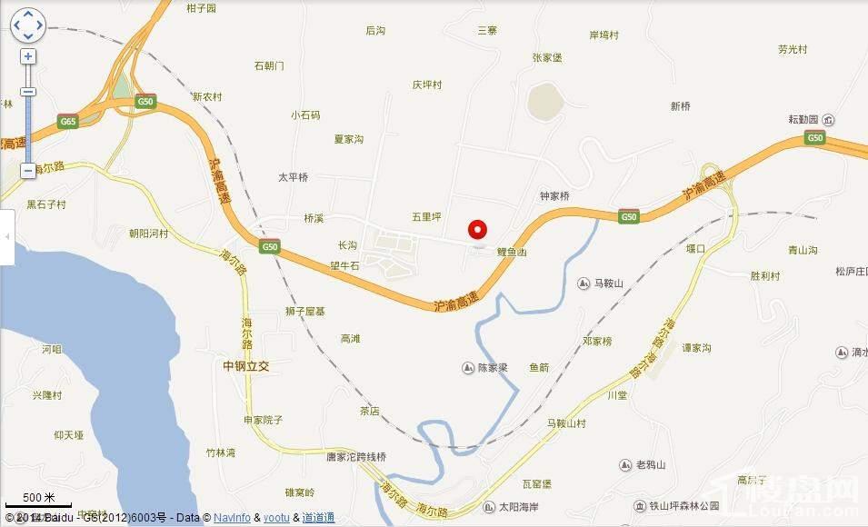 重庆市两江新区地图