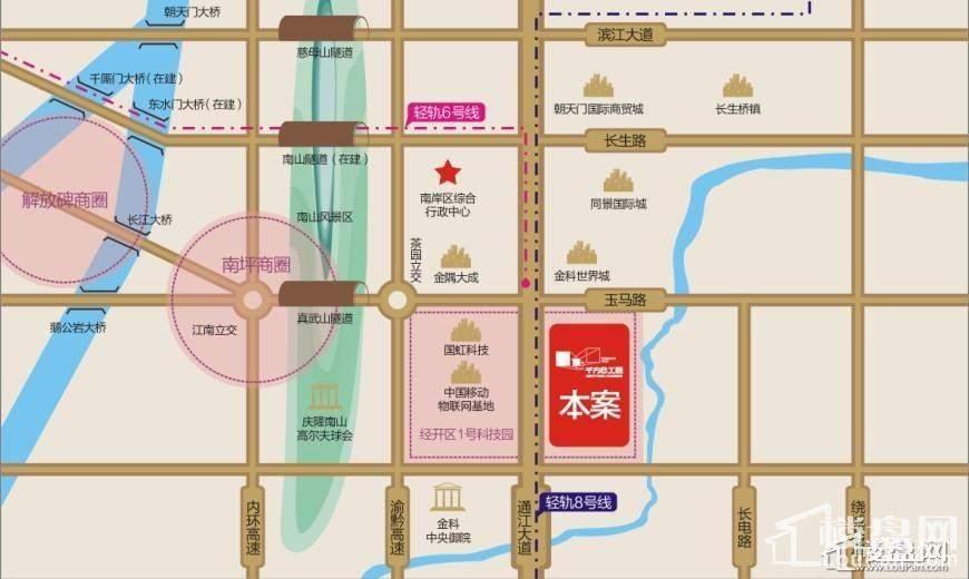 重庆二外英文手绘地图