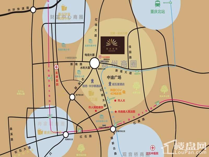 北城阳光尚线位置图