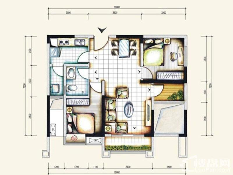 一期标准5号房户型