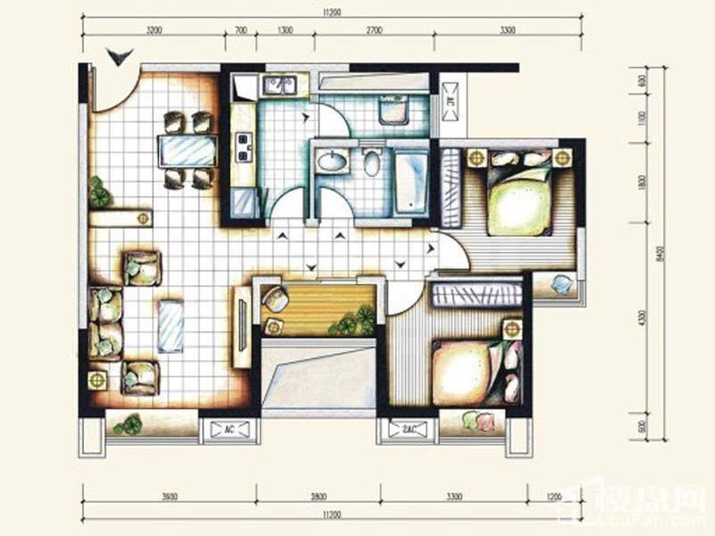 一期标准层7号房户型