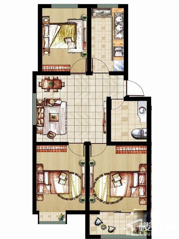 玲珑阁2#楼多层户型