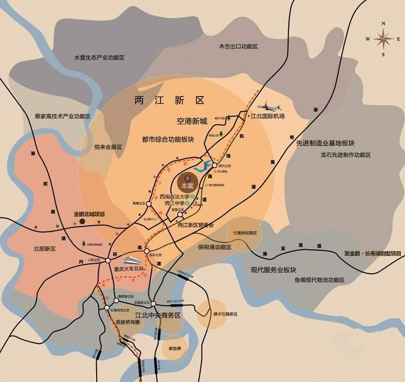 金鹏两江时光位置图