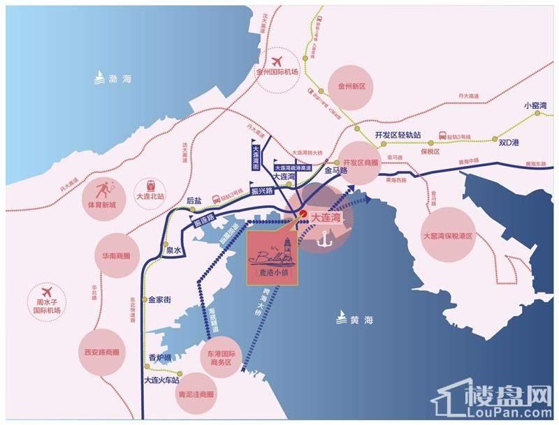 鹿港小镇位置图